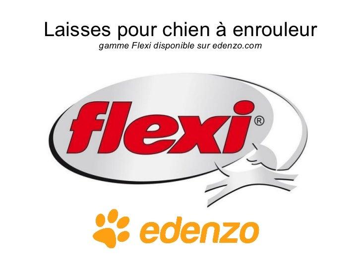 Laisses pour chien à enrouleur      gamme Flexi disponible sur edenzo.com