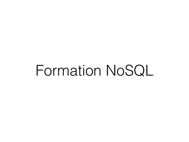Formation NoSQL