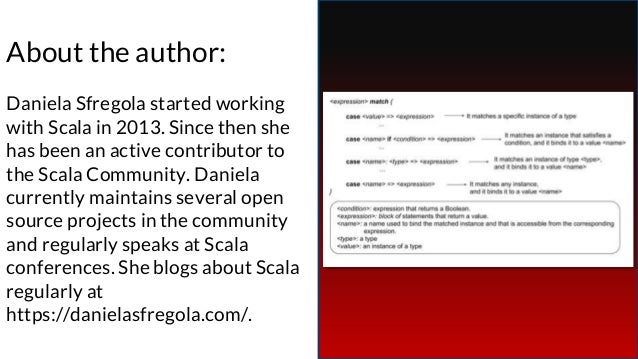 About the author: Daniela Sfregola started working with Scala in 2013. Since then she has been an active contributor to th...