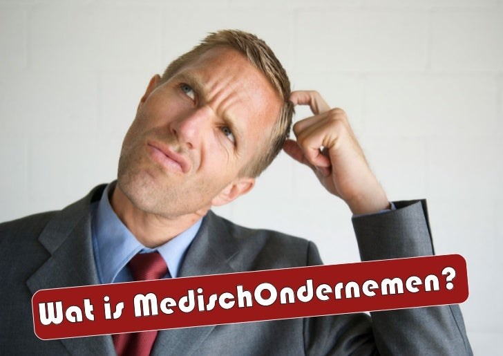 Wat is MedischOndernemen? Slide 2