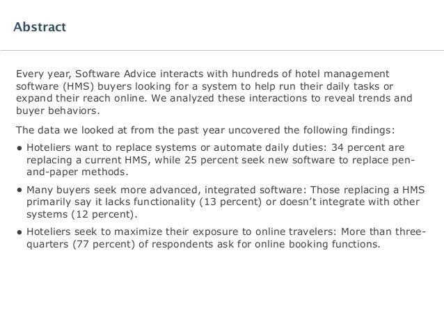 Software Advice BuyerView: Hotel Management Report 2015 Slide 2