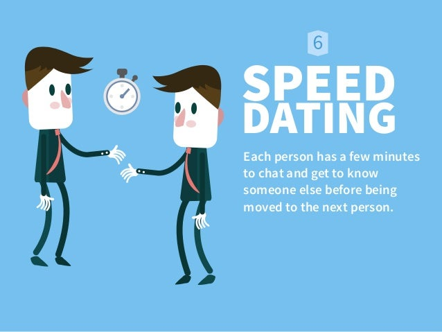 speed dating as an icebreaker