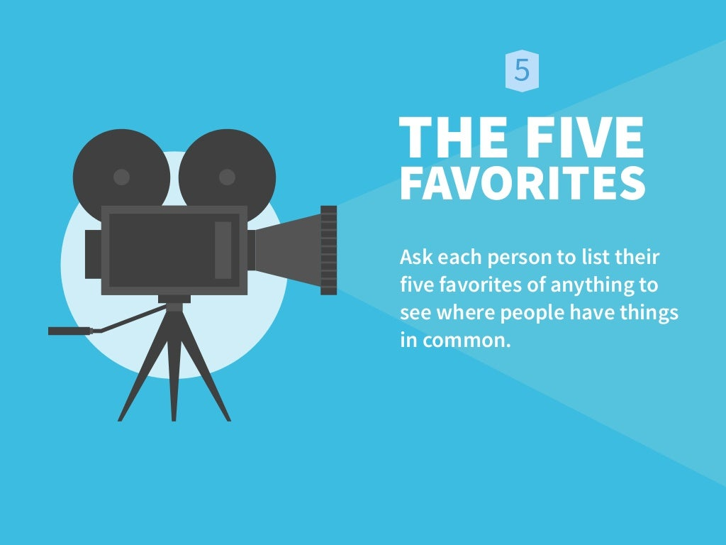 THE FIVE FAVORITES Ask each