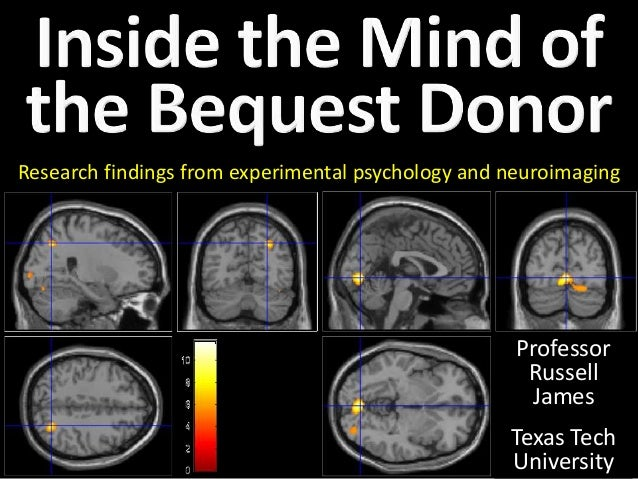 Research findings from experimental psychology and neuroimaging  Professor  Russell  James  Texas Tech  University
