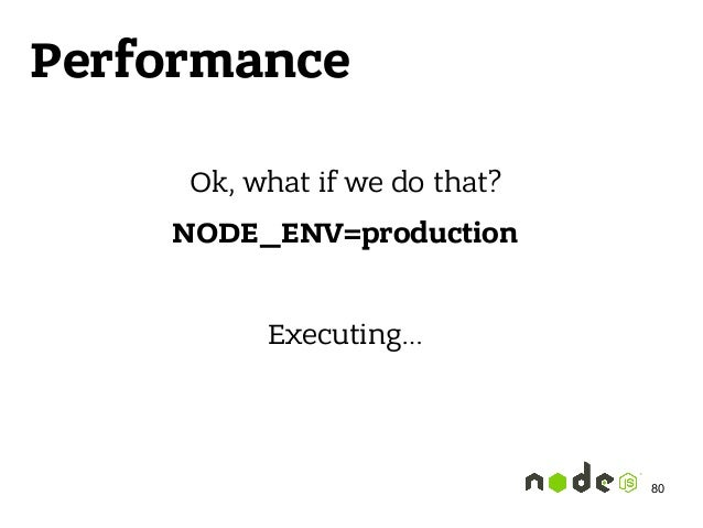 Performance Ok, what if we do that? NODE_ENV=production Executing… 80