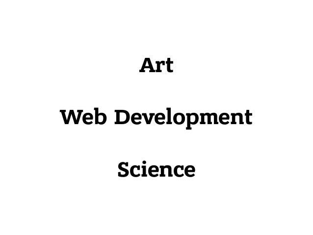Art Web Development  Science