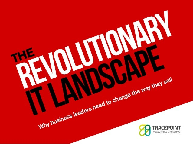 Why business leaders need to change the way they sell THE REVOLUTIONARY ITLANDSCAPE