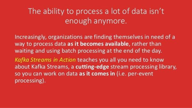 The ability to process a lot of data isn't enough anymore. Increasingly, organizations are finding themselves in need of a...