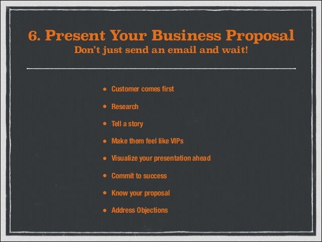 best way to present a business proposal