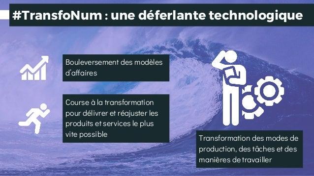 Bouleversement des modèles d'affaires Transformation des modes de production, des tâches et des manières de travailler Cou...