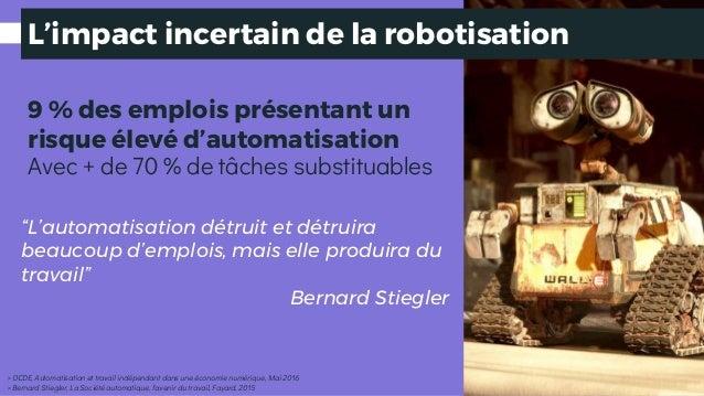L'impact incertain de la robotisation 9 % des emplois présentant un risque élevé d'automatisation > OCDE, Automatisation e...