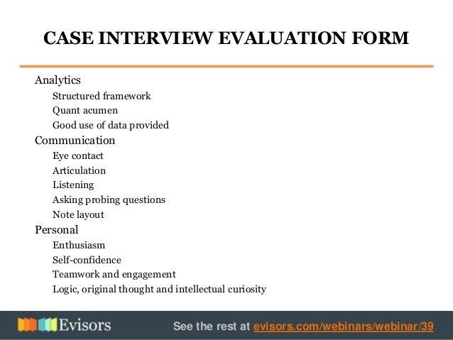 interview case