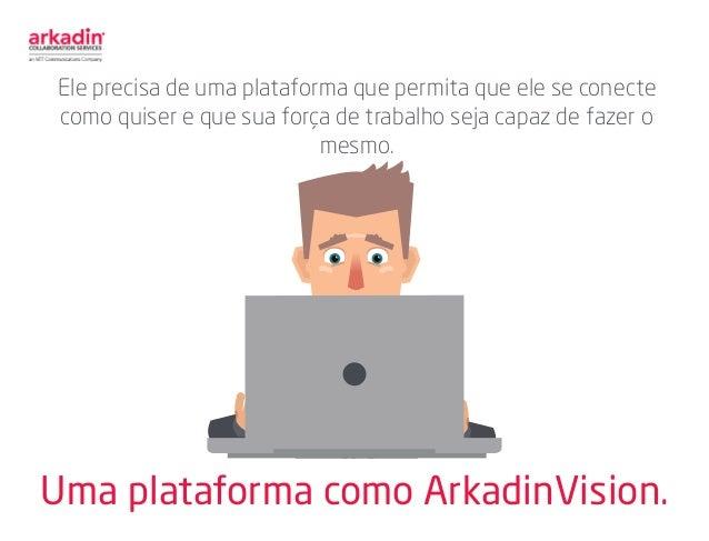 Uma plataforma como ArkadinVision. Ele precisa de uma plataforma que permita que ele se conecte como quiser e que sua forç...