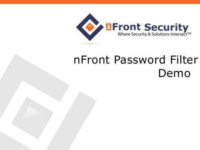 nFront Password Filter Demo
