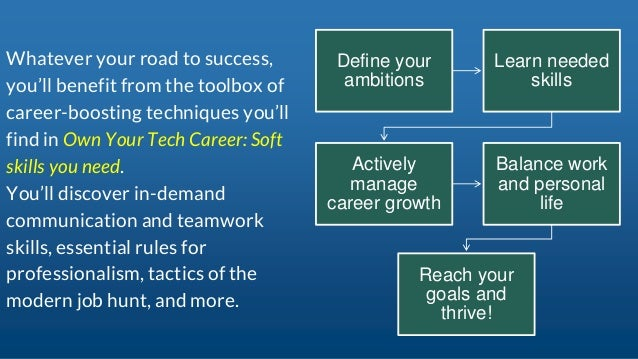 Own Your Tech Career: Soft skills you need Slide 3
