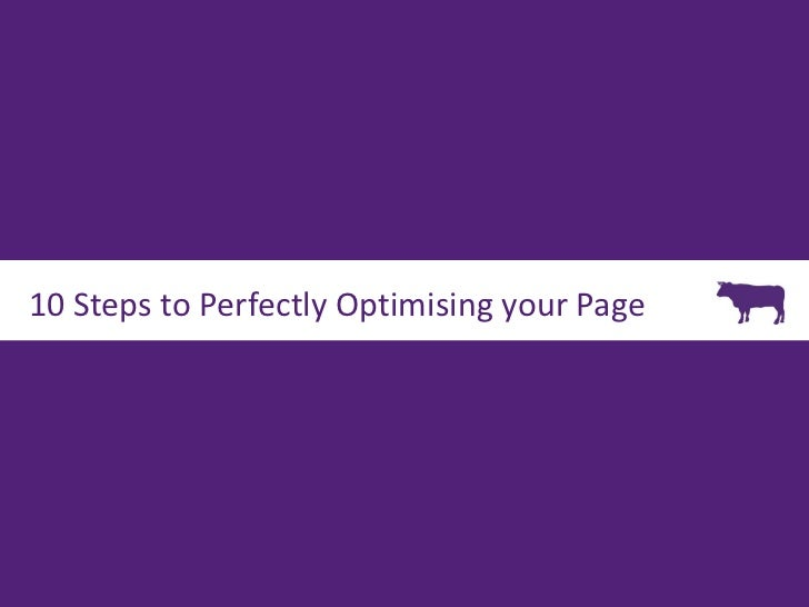 10 Steps to Perfectly Optimising your Page