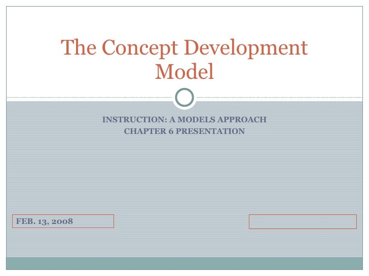INSTRUCTION: A MODELS APPROACH CHAPTER 6 PRESENTATION The Concept Development Model FEB. 13, 2008