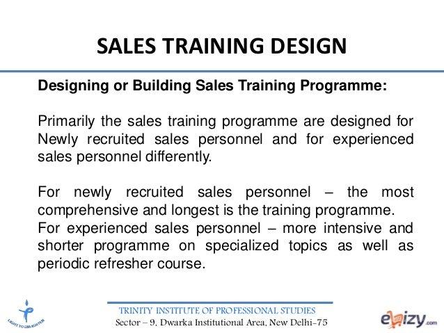 Sales Management Sales Training Design