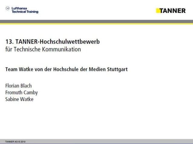 Neukonzeption: Lufthansa Technical Training Überführung in ein interaktives E-Learning Florian Blach, Fromuth Camby, Sabin...