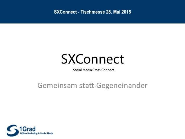 SXConnect Gemeinsam  sta*  Gegeneinander   Social Media Cross Connect