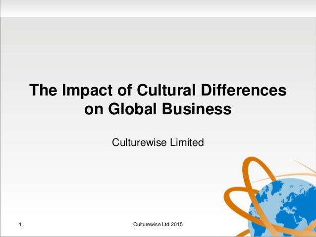 differences in cultures and there effects Cultural diversity is the quality of diverse or different cultures the phrase cultural diversity can also refer to having different cultures respect each other's differences there are many separate societies that emerged around the globe differed markedly from each other.