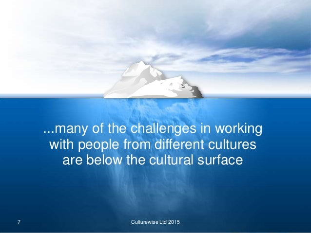 the impact of cultural differences on Immediately adapt new values and new attitudes this article demonstrates the  impact that cultural differences can have on businesses' practices and programs.