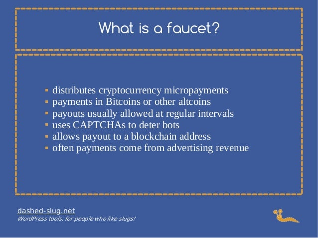 How to run a Bitcoin or altcoin cryptocurrency faucet on WordPress