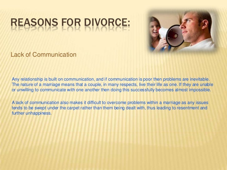 Lack of communication and divorce