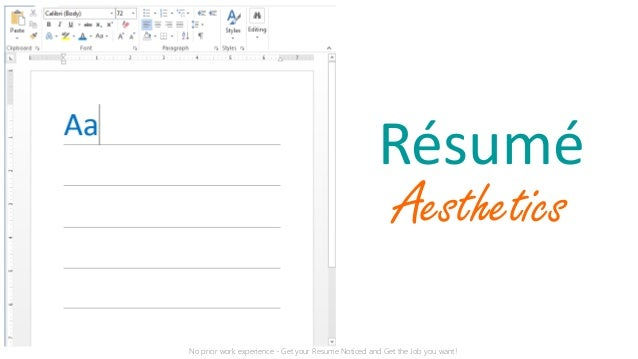 get your resume noticed resume aesthetics