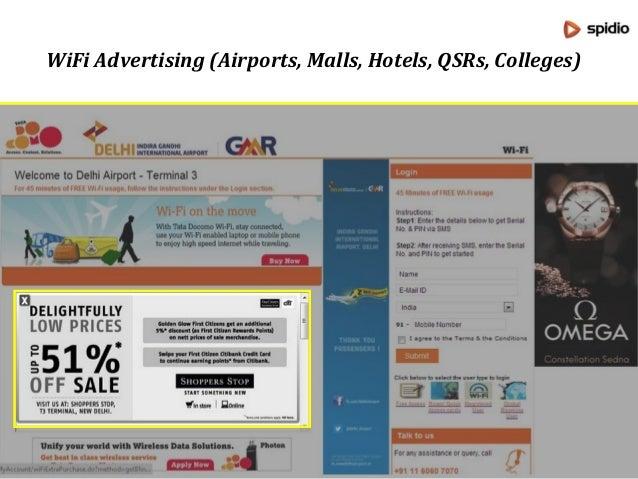 Brand: Raymond WiFi Advertising at Delhi Airport Terminal 3
