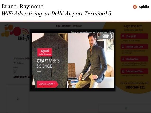 Brand: VISA WiFi Advertising at Delhi Airport Terminal 1