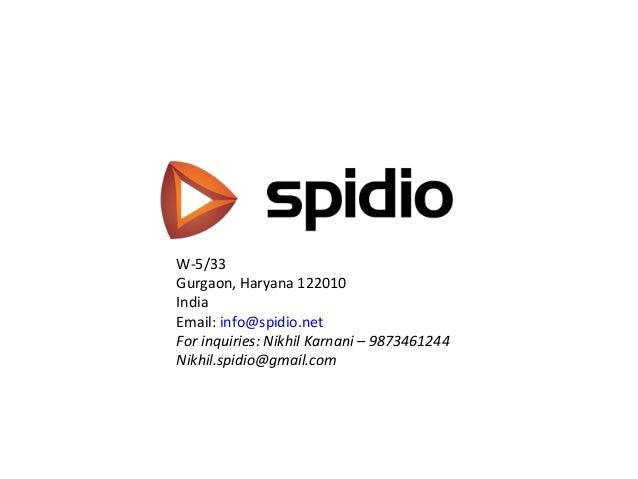 Slideshare spidio overview
