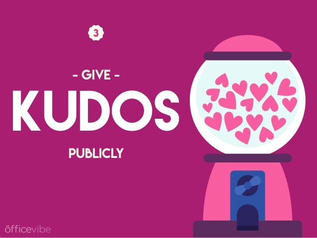 KUDOS PUBLICLY - GIVE -