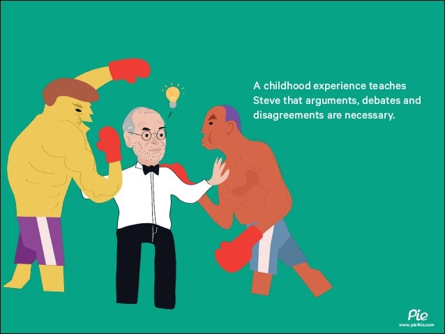 A childhood experience teaches Steve that arguments, debates and disagreements are necessary.  www.piethis.com