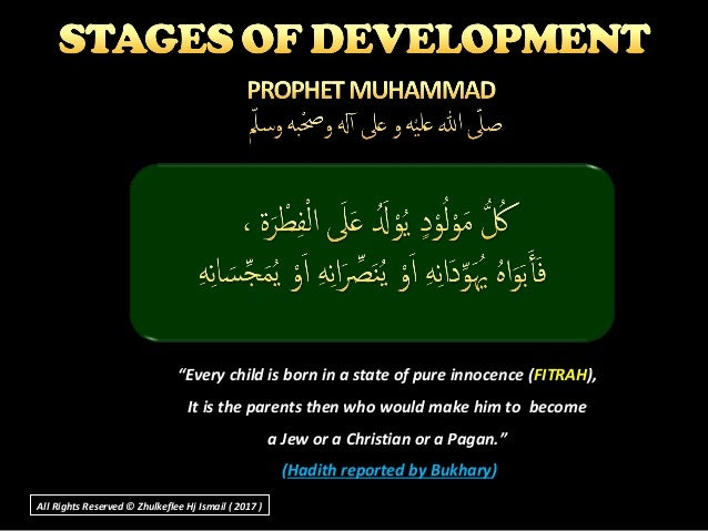 """""""""""Every child is born in a state of pure innocence (Every child is born in a state of pure innocence (FITRAHFITRAH),), It ..."""