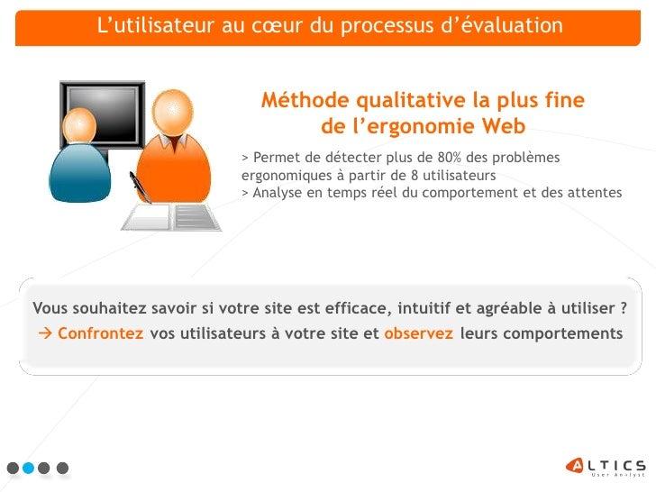 Altics Tests Utilisateurs Slide 2