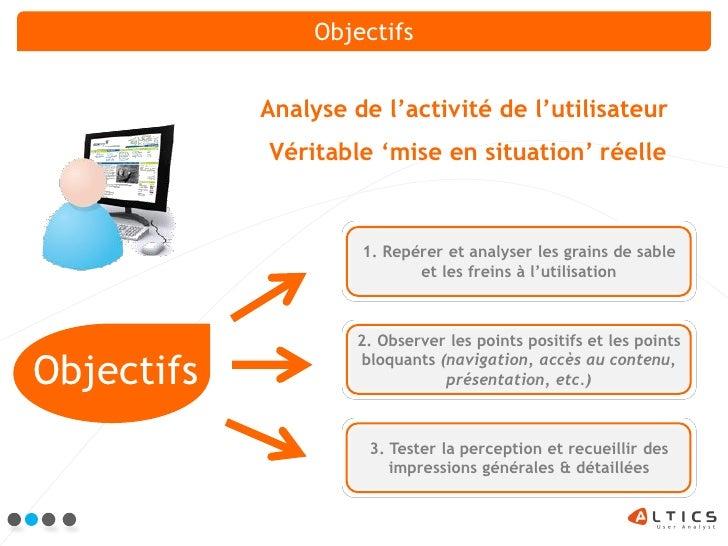 Altics Tests Utilisateurs Slide 3