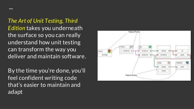 The Art of Unit Testing, Third Edition takes you underneath the surface so you can really understand how unit testing can ...