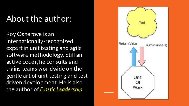About the author: Roy Osherove is an internationally-recognized expert in unit testing and agile software methodology. Sti...