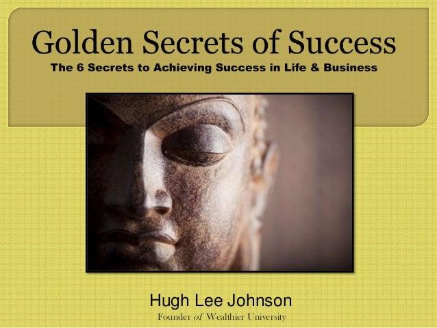 Hugh Lee Johnson Founder of Wealthier University