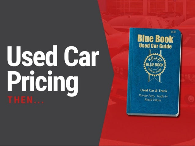 Dealership Used Car Pricing: Then VS Now