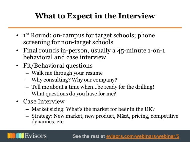 1st round interview questions