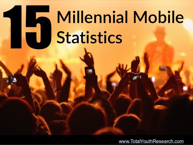www.TotalYouthResearch.com Millennial  Mobile   Statistics15