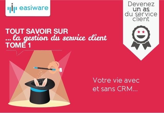 TOUT SAVOIR SUR ... la gestion du service client TOME 1 Votre vie avec et sans CRM... Devenez un as du service client