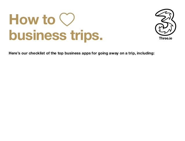 travel checklist how to business trips