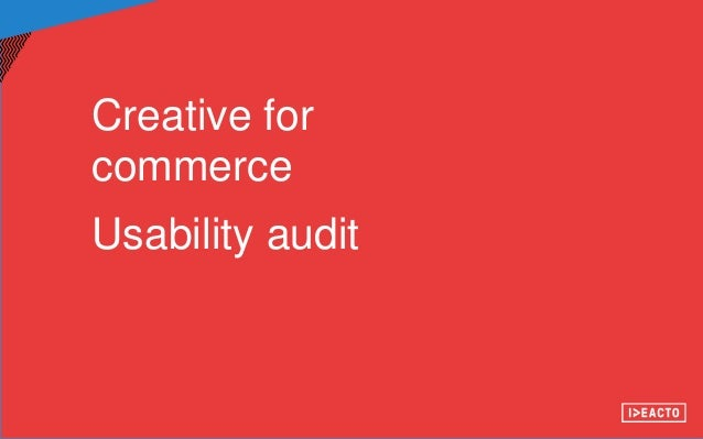 Usability audit Slide 2