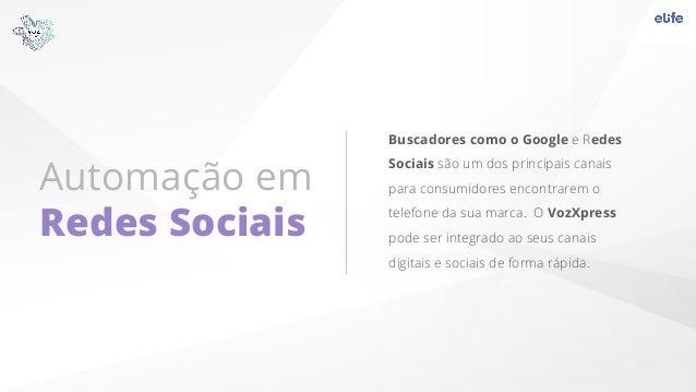 Automação em Redes Sociais Buscadores como o Google e Redes Sociais são um dos principais canais para consumidores encontr...