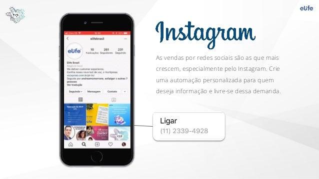 As vendas por redes sociais são as que mais crescem, especialmente pelo Instagram. Crie uma automação personalizada para q...