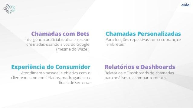 Chamadas com Bots Inteligência artificial realiza e recebe chamadas usando a voz do Google (mesma do Waze). Relatórios e Da...