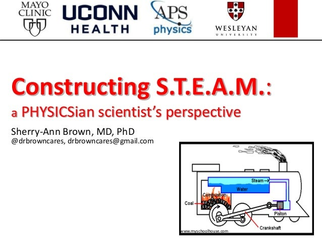 Constructing S.T.E.A.M.: a PHYSICSian scientist's perspective Sherry-Ann Brown, MD, PhD @drbrowncares, drbrowncares@gmail....